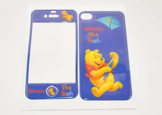 Winnie Skin Sticker Protector For iPhone 4 4G (Blue)