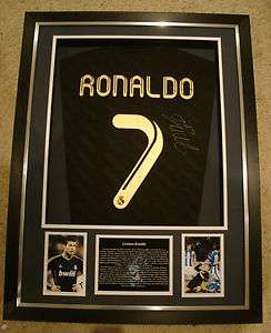 RONALDO SIGNED REAL MADRID AWAY SHIRT IN 3D BOX FRAME