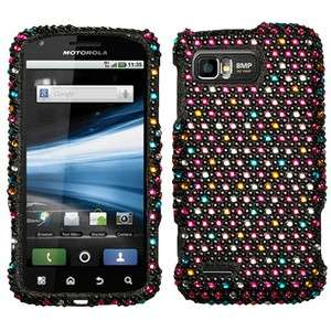 For AT&T Motorola Atrix 2 Crystal Diamond BLING Case Phone Cover