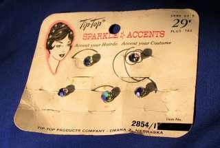 SET 5 VTG AURORA BOREALIS CRYSTAL HAIR ACCENT CLIPS MIP
