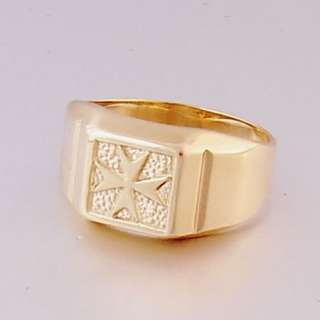 MALTA MALTESE CROSS Jewellery 9ct Gold Ring Size X
