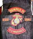 us marine corp leather vest