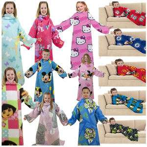 SLEEVED FLEECE BLANKETS SNUGGLE WRAPS DISNEY TV KIDS BOYS GIRLS NEW