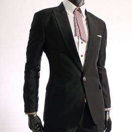 LDC Completo uomo matrimonio giacca pantalone nero XXL