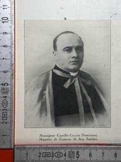 Cardinale Monsignor Camillo Caccia Dominioni, Maestro di Camera di Sua
