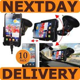 CAR HOLDER CHARGER KIT AND SCREENS SAMSUNG GALAXY S 2