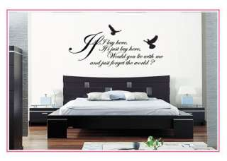 If I LAY HERESNOW PATROL WALL STICKER ART DECALS