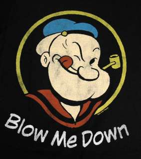 The Sailor Man Blow Me Down Vintage Style Cartoon T Shirt Tee