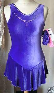 NEW Stoned GK Velvet ICE SKATING DRESS Ladies Medium