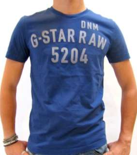STAR T SHIRT JOHNSON R T WITH PRINT BLUE MEN $60 BNWT