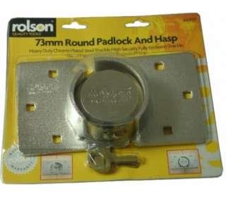 73MM ROUND PADLOCK HASP SET SHACKLESS VAN SECURITY LOCK