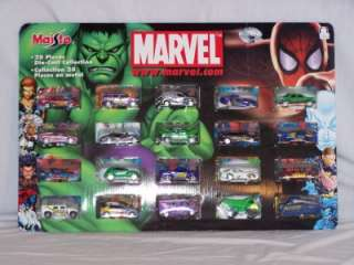 Marvel 20 piece Die Cast Car Collection Superheroes new
