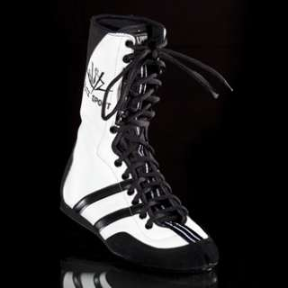 New Raging Bull Leather Boxing Boots   White 43 / 9 UK