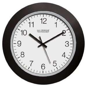 La Crosse 10.00 inch Black Plastic Atomic Clock: Home