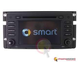 AUTORADIO NAVIGATORE GPS SMART FORTWO FORFOUR DVB T MP3 DIVX DIGITALE