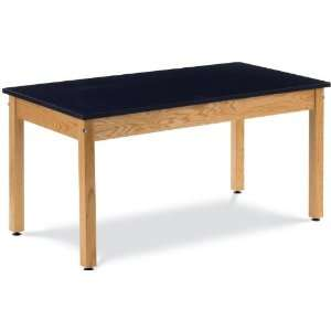 30in Oak Science Table with Epoxy Resin Top by Virco Office Products