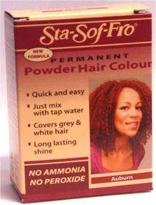 Sta Sof Fro StaSofFro Permanent Hair Dye Colour Powder Auburn