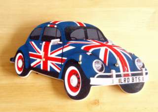 VW Beetle Key Rack / Holder, Union Jack, VW Bug, VW Camper Van, 60s