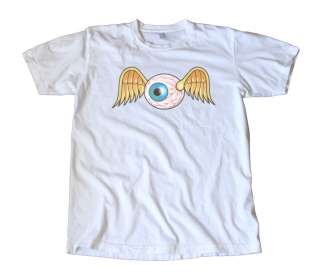 Vintage Von Dutch Flying Eyeball Decal T Shirt, Hot Rod