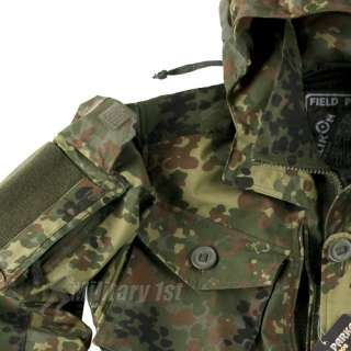 HELIKON MILITARY FIELD PARKA ARMY JACKET MENS SMOCK RIPSTOP FLECKTARN