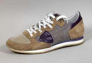 Scarpe donna sportive sneakers Philippe Model Tropez beige pelle