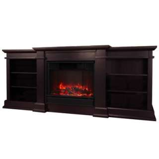 Real Flame Fresno Indoor Electric Fireplace Dark Walnut G1200e Dm