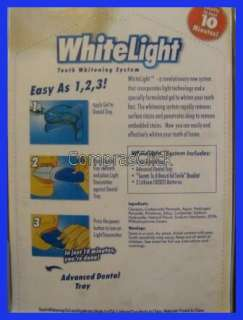 BLANQUEADOR DENTAL  WHITELIGHT  EL ORIGINAL DE LA TV