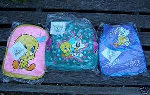 BABY LOONEY TUNES TWEETY BIRD BUGS BUNY BACKPACK BAGS