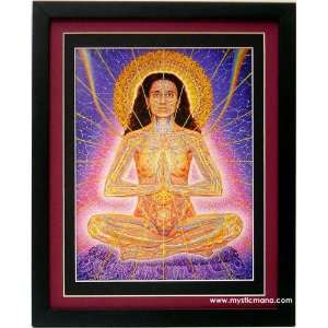 Namaste By Alex Grey ,Framed & Double Matted 12x15:  Home