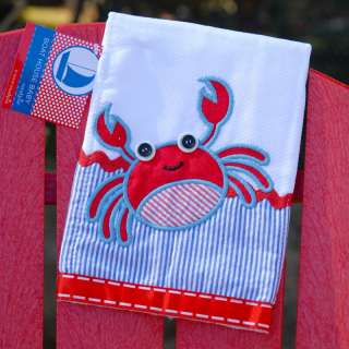 Mud Pie Boat House Baby Crab Burp cloth NEW