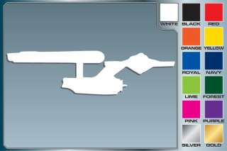 Star Trek Classic USS ENTERPRISE cut vinyl decal