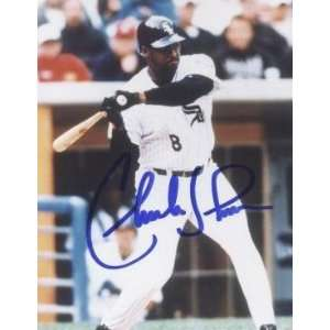 Charles Johnson Autographed Photo   Chicago White Sox8x10
