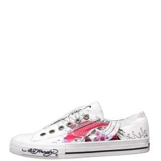 Ed Hardy White Lowrise Chaud Koi Fish Sneaker for Women   5