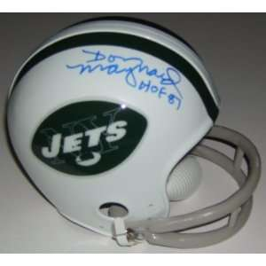 Don Maynard Signed Jets Mini Helmet Sports & Outdoors