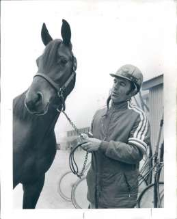 1972 Joe Marsh Jr Harness Racing Jockey Press Photo