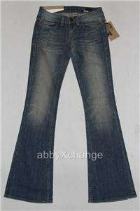 New WILLIAM RAST BELLE FLARE JEANS in MED VINTAGE sz 24