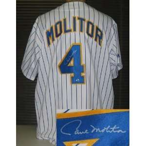 Paul Molitor Autographed Uniform   Milwaukee Brewers