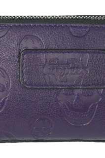 Alexander McQueen Mischief skull stamped leather pouch   55% Off Now