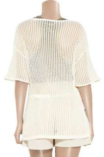 Alexander Wang Open knit cotton sweater   80% Off Now at THE OUTNET