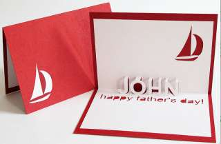 personalised pop up fathers day card by the letteroom
