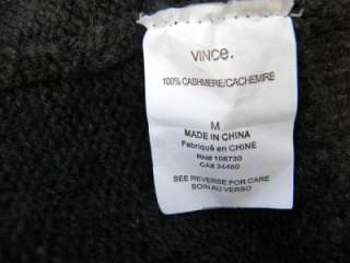 Gorgeous VINCE 100% cashmere cropped cardigan sweater,in gray color