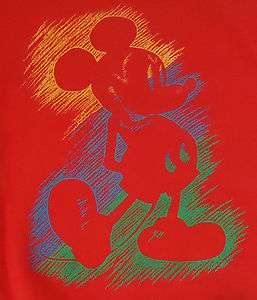Vtg Mickey Mouse Walt Disney Mens Crewneck Sweatshirt Large L