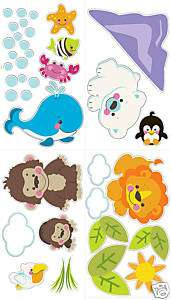 Fisher Price PRECIOUS PLANET Wall Stickers Decal Jungle