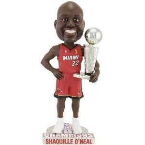 Miami Heat Shaquille ONeal Championship Bobble Head Doll
