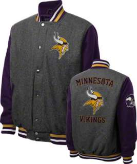 Minnesota Vikings Grey Wool Varsity Jacket
