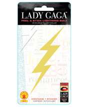 Lady Gaga Gold Lightning Bolt Peel and Stick Decal