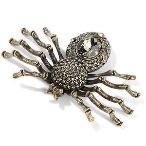 Heidi Daus Web Weaver Crystal Accented Spider Pin