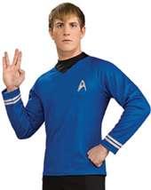 Star Trek the Movie Adult Deluxe Blue Shirt