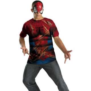 Spider Man Shirt And Mask Adult Costume, 69974