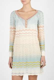 Missoni  Three Button Long Sleeve Wave Dress by M Missoni